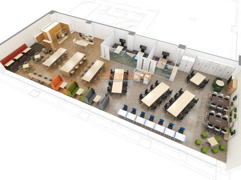 012-オフィス パース