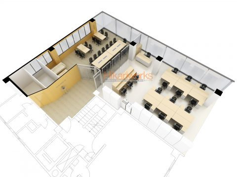 023-オフィス パース
