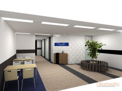 051-オフィス パース